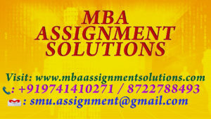 NMIMS Solved Assignments